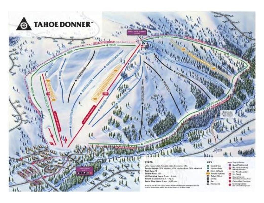 tahoe donner trail map | lake tahoe ski resort maps